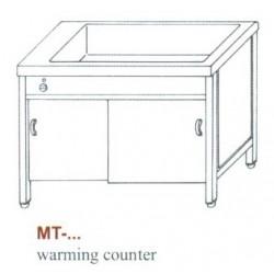 Elektromos melegentartó pult, 3 oldalon zárt, ajtó nélkül MT-1500 Z