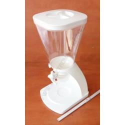 Müzli adagoló 25x21x47cm 5,5 literes, polikarbonát, fehér