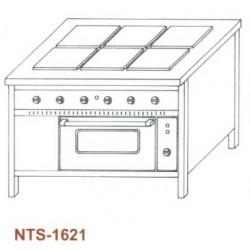 Elektromos tűzhely, 6 főzőlapos NTS-1621