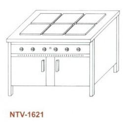 Elektromos főzőasztal, zárt, 6 főzőlapos NTV-1621