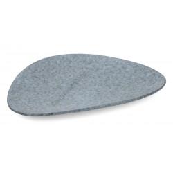 Organica háromszög tányér, 28×17 cm, kőporcelán