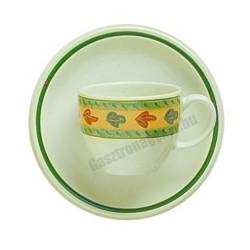 Siena kávéscsésze és alj, 90 ml, kiskakas dekorral, porcelán