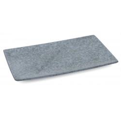 Organica négyszögletes tányér, 28×17 cm, kőporcelán