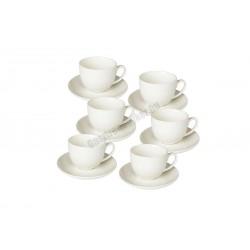 Perla kávéscsésze + alj, 85 ml, 6 db/csomag, porcelán