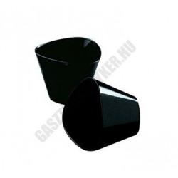 Pohárkrém-desszert tégely, Triangle, fekete, 175 ml, 85x65 mm