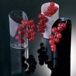 Pohárkrém-desszert tégely, Tube, fekete, 80 ml, 40x85 mm