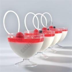 Pohárkrém-desszert tégely, Bubble, 215 ml, 90x75 mm