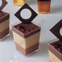 Pohárkrém-desszert tégely, Square, 120 m, 50x50x70 mm