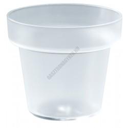 Pohárkrém-desszert tégely, átlátszó, 120 ml, 67,5x58 mm