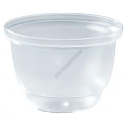 Pohárkrém-desszert tégely, átlátszó, 120 ml, 72x51 mm
