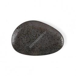 Carbon lapostányér, 27x18 cm, kemény porcelán