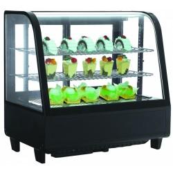 Hajlított üvegű 100 literes bemutatóvitrin