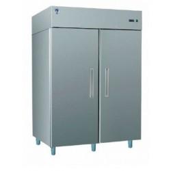 Teleajtós, kétajtós hűtőszekrény 1400 literes rozsdamentes külsővel