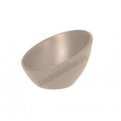 Finger food aszimmetrikus tálka, 13x12 cm, beige, melamin