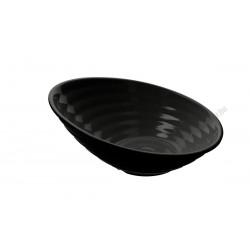 Ferde tál, 35,5 cm, fekete, melamin