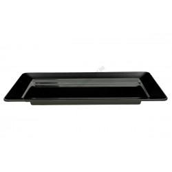 Téglalap alakú tányér, 75x25 cm, fekete, melamin