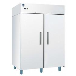 Két teleajtós hűtőszekrény Gn 2/1 polcokkal, bruttó 1400 l, fehér festett külsővel GASTRO C1400