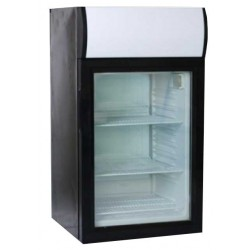 Üvegajtós hűtővitrin  52 liter SC 52B