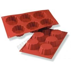 Szilikon sütőforma, Kosárka forma, 6 adag, 30 mm mély, 300×175 mm