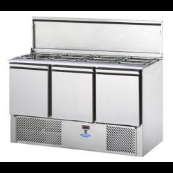 Salátahűtő 3 ajtóval GN 1/1 1380×700×880 mm SL03EKO