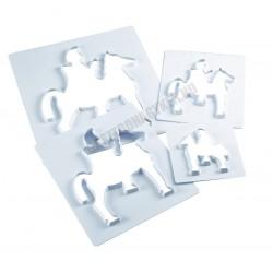 Tésztakiszúró, lovas, 180x200 mm, műanyag