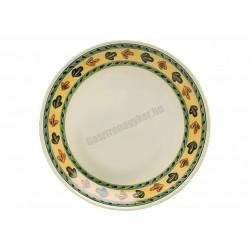 Siena lapostányér, 26 cm, kiskakas dekorral, porcelán