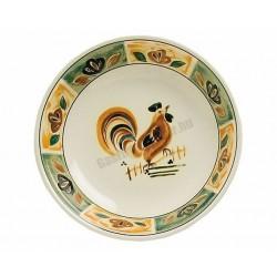 Siena mélytányér, 21 cm, kiskakas dekorral, porcelán