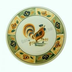 Siena lapostányér, 20 cm, kiskakas dekorral, porcelán
