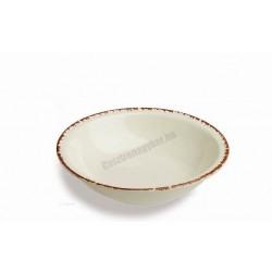Siena gyümölcsöstál, 16 cm, narancs színű peremmel, porcelán