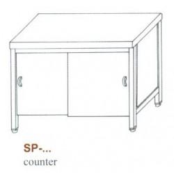 Semleges pult, alul zárt, tolóajtókkal SP-1500