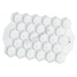 Péksütemény mintázó rács, nagy hatszög, 14x11 cm, műanyag