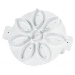 Péksütemény mintázó, virág, 12,5 cm, műanyag