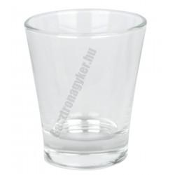 Caffeino kísérőpohár 85 ml, üveg