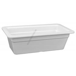 Gn edény 1/3 100 mm (17,6x32,5x10 cm) fehér melamin