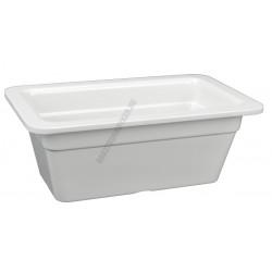 Gn edény 1/4 100 mm (16,2x26,5x10 cm) fehér melamin