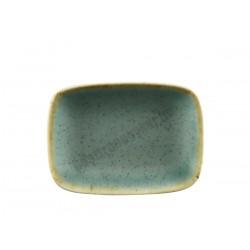 Trend Split szögletes tálka, 12x8xH1,5 cm, porcelán