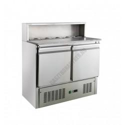 Pizzaelőkészítő asztal 240 liter (salátahűtő betéttel) KH-PS900