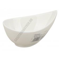 Mini Party csepp alakú tál, 11x8xH5 cm, szupererős porcelán