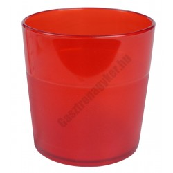 Polikarbonát pohár, 170 ml, piros