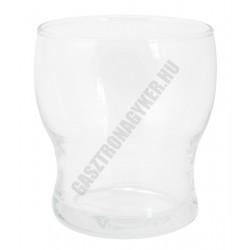 Lili vizes pohár, 250 ml, sorolható, temperált, üveg