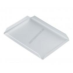 Süteményes tálca, szögletes, 17x23x2 cm, plexi
