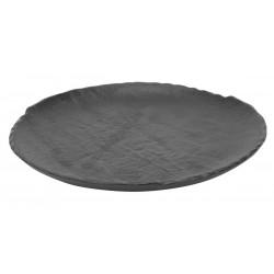 Vulcania fekete lapostányér 26 cm, porcelán