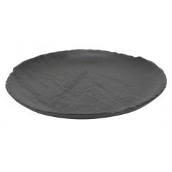 Vulcania fekete lapostányér 29 cm, porcelán