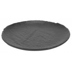 Vulcania fekete lapostányér 21 cm, porcelán