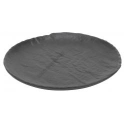 Vulcania fekete lapostányér 16 cm, porcelán