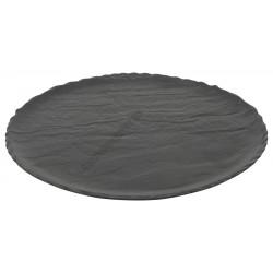 Vulcania fekete lapostányér 33 cm, porcelán