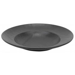 Vulcania fekete paszta tányér 25 cm, porcelán