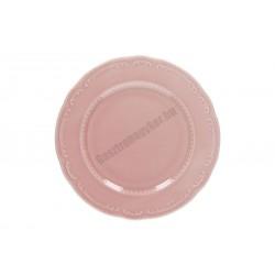 Vecchio Vienna lapostányér, 28 cm, rózsaszín porcelán