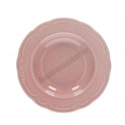 Vecchio Vienna mélytányér, 23 cm, rózsaszín porcelán