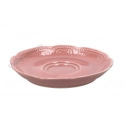 Vecchio Vienna teáscsészealj, 16 cm, rózsaszín porcelán